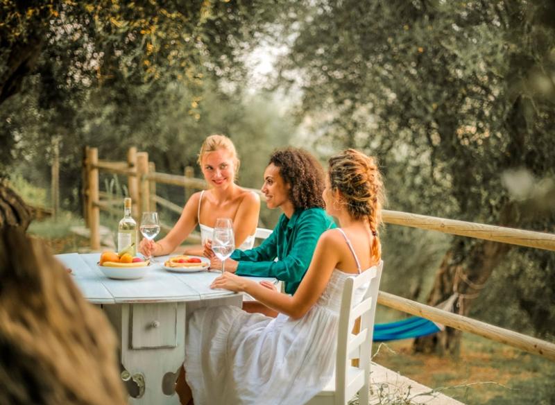 Comida entre olivares en Gata